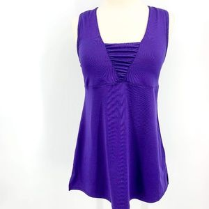 Athleta Purple Sport Tank w/ Built In Bra